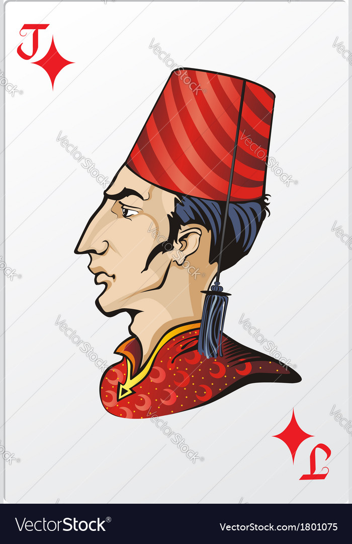 Jack of diamonds deck romantic graphics cards vector | Price: 3 Credit (USD $3)