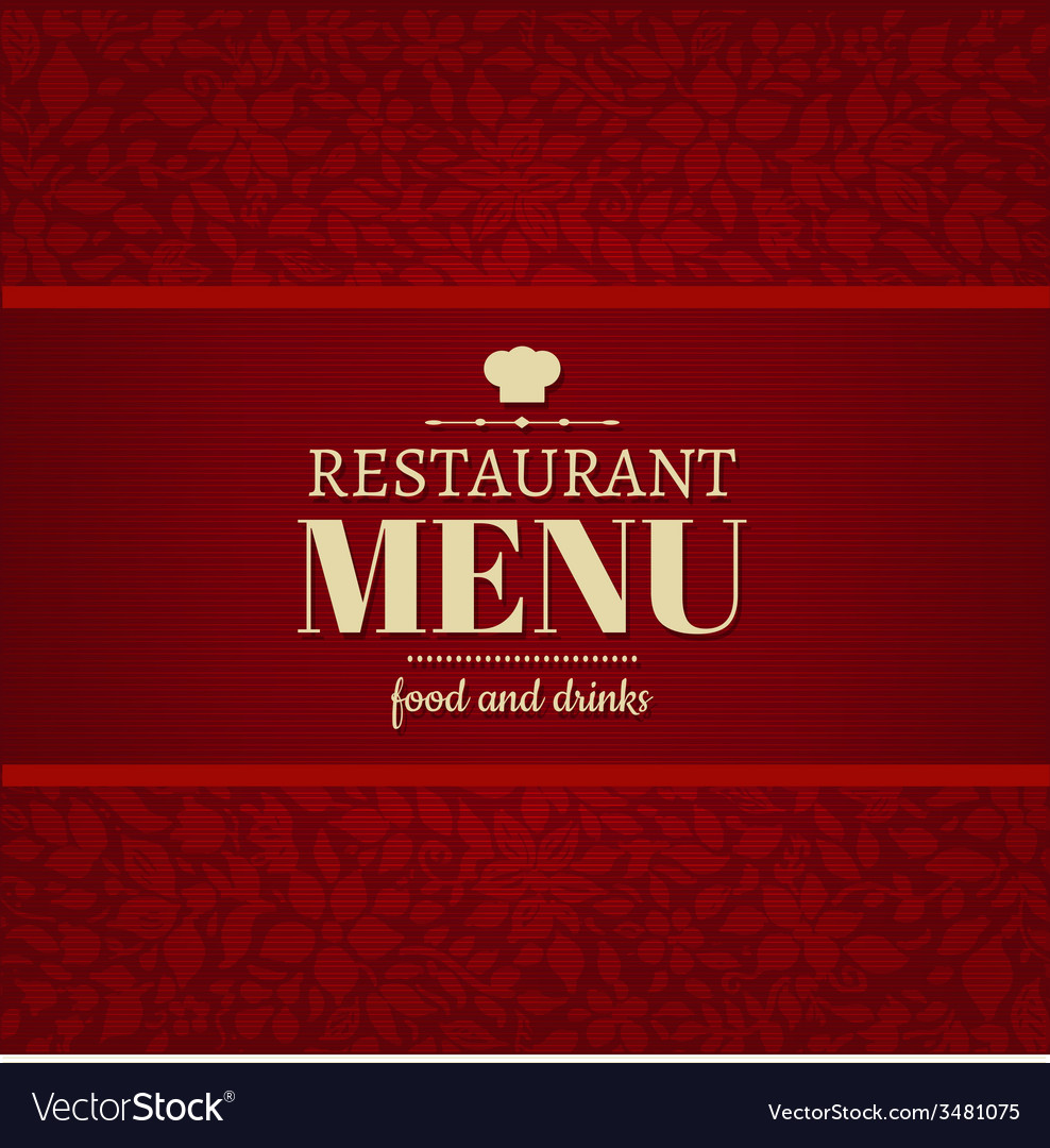 Restaurant menu card vector | Price: 1 Credit (USD $1)