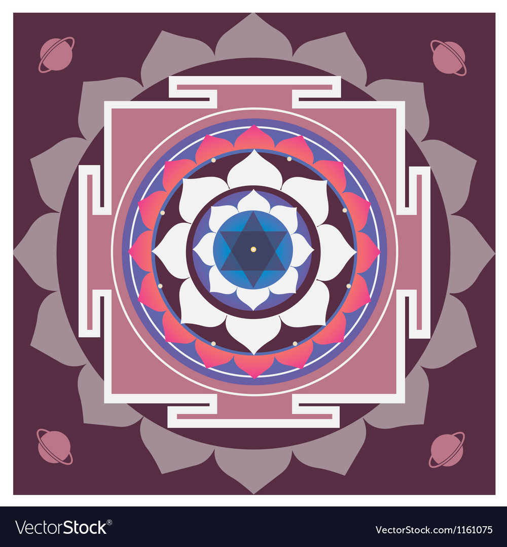 Spring yantra of saturn vector | Price: 1 Credit (USD $1)