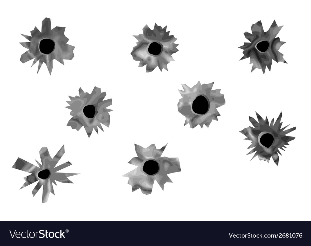 Bullet holes vector | Price: 1 Credit (USD $1)