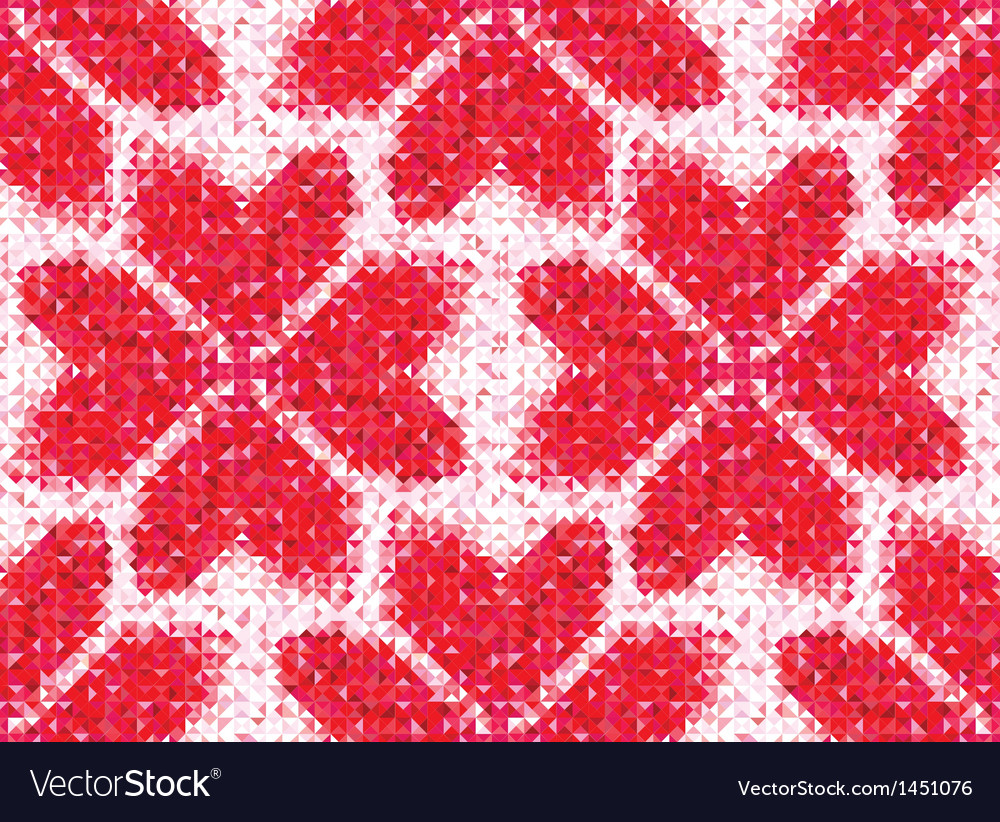 Flower seamless love pattern of geometric heart vector | Price: 1 Credit (USD $1)
