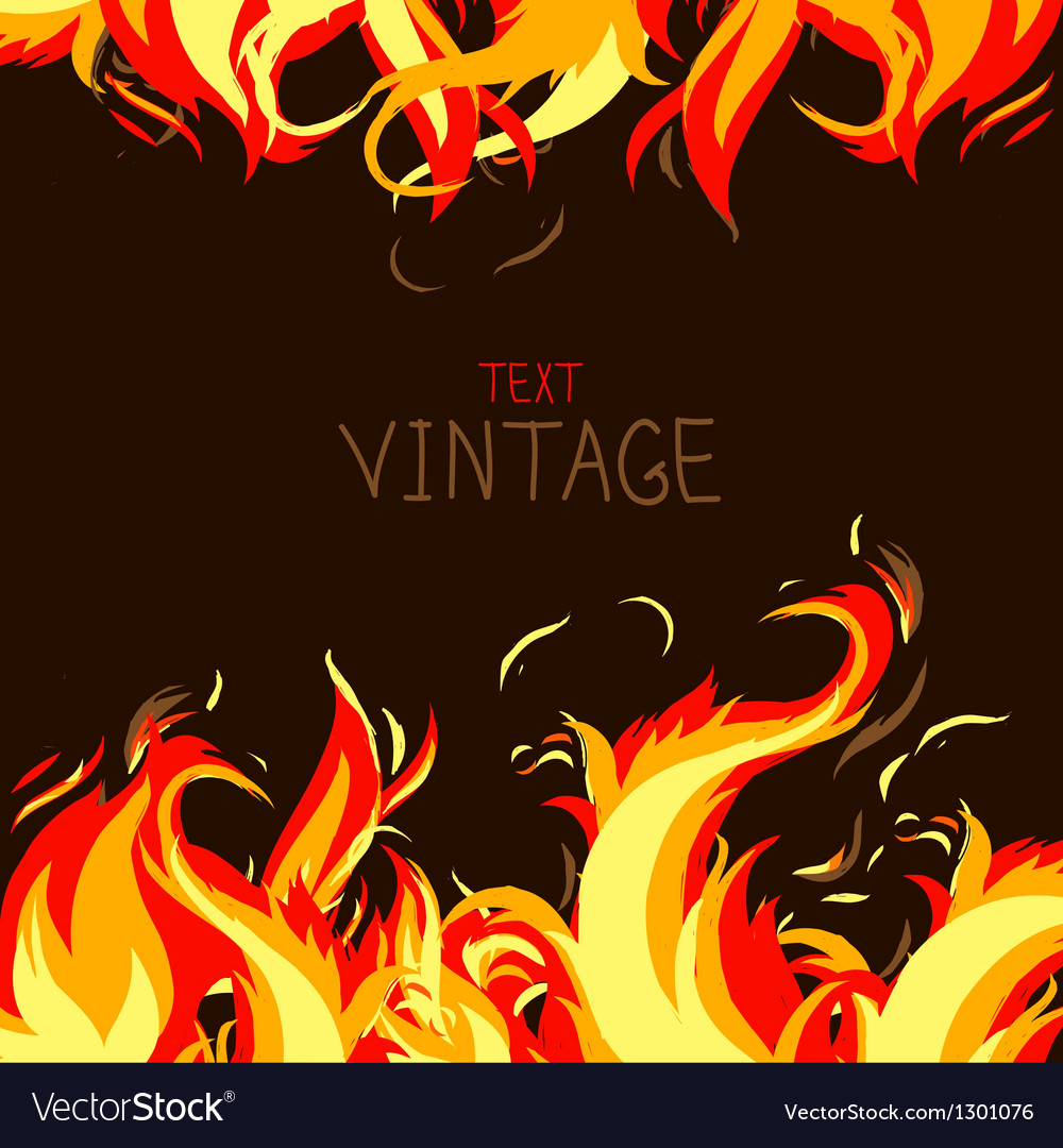 Frame made from fire vector | Price: 1 Credit (USD $1)