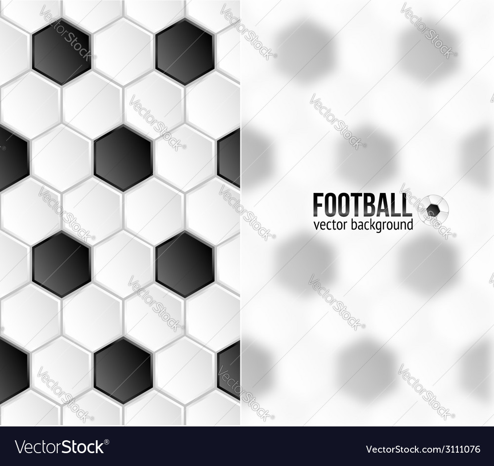 Geometric football hexagonal tiles background with vector | Price: 1 Credit (USD $1)