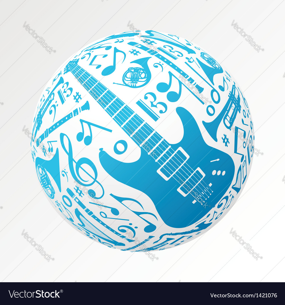 Music instruments in bauble shape vector | Price: 1 Credit (USD $1)