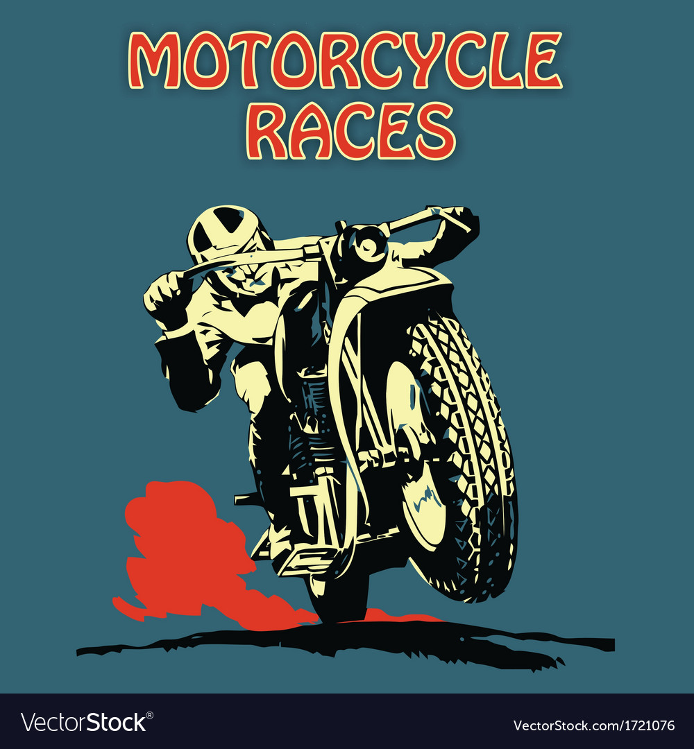 Retro poster motorcycle vector | Price: 1 Credit (USD $1)