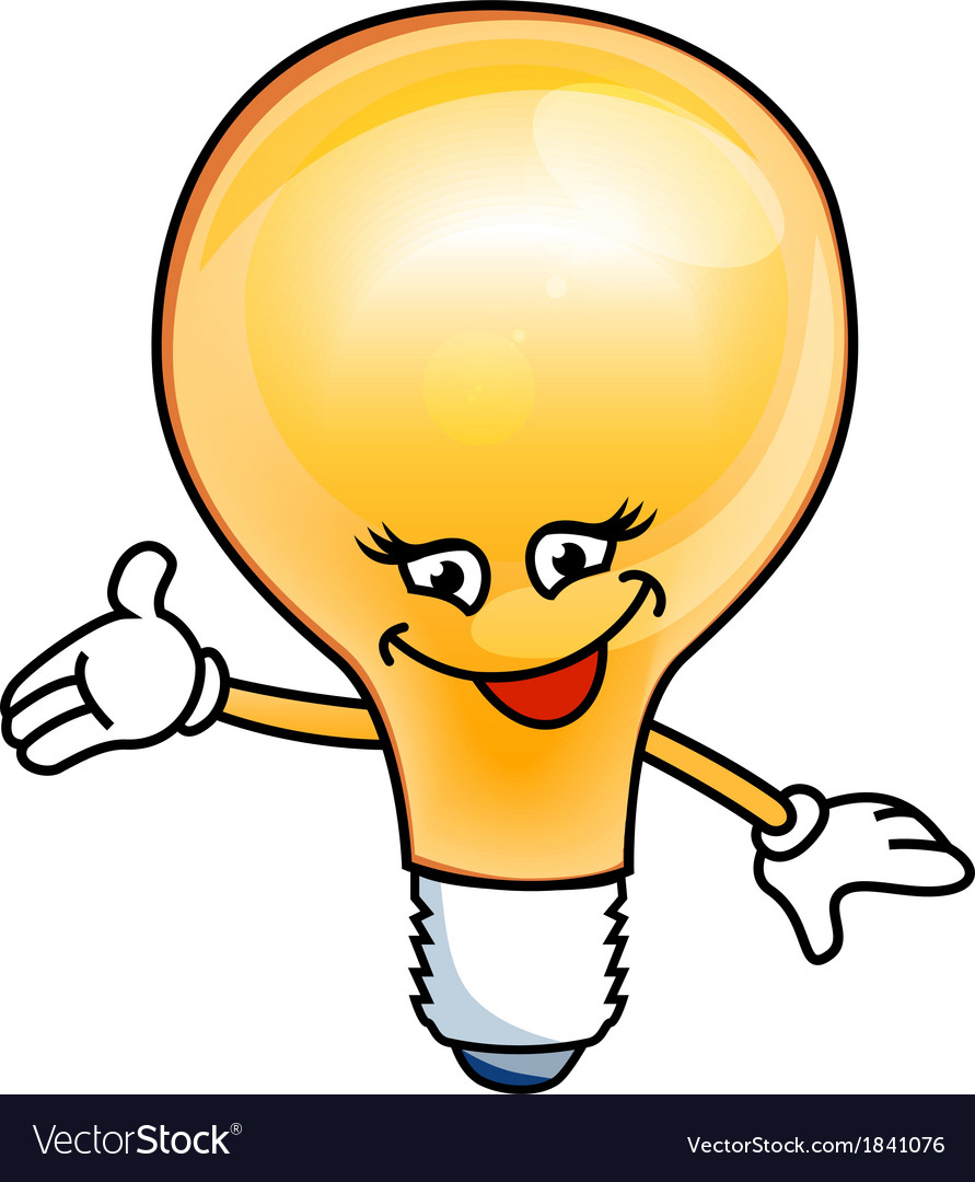 Smile bulb electric vector | Price: 1 Credit (USD $1)