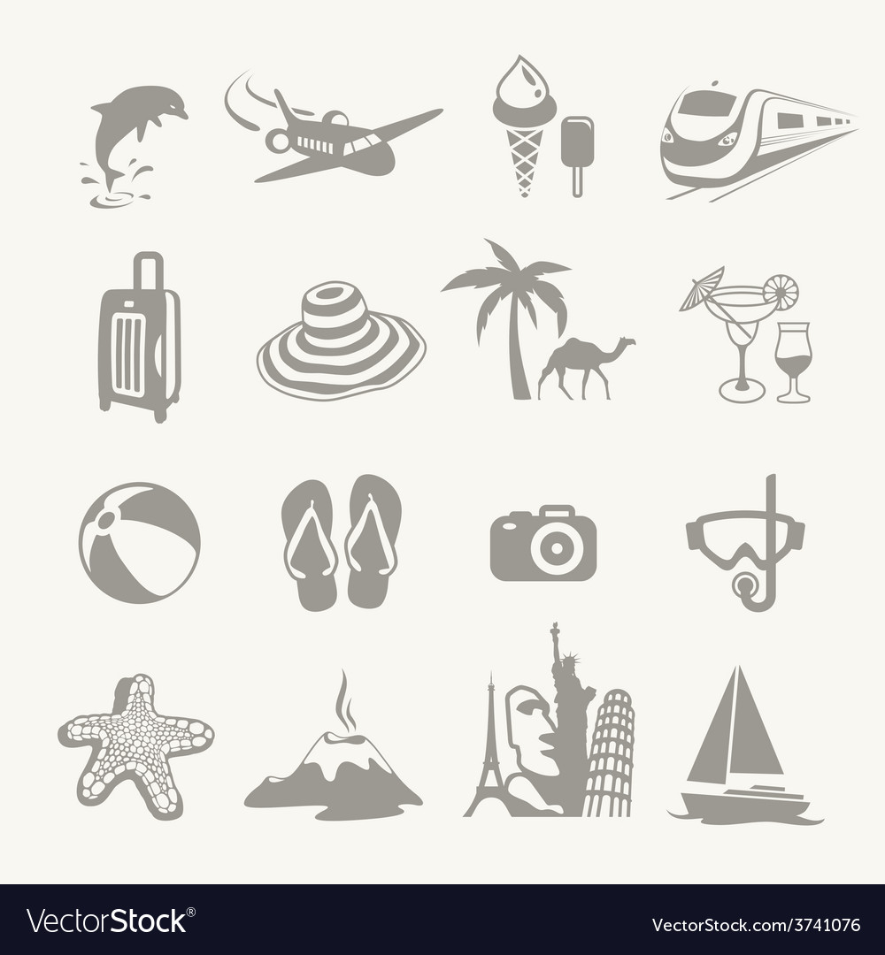 Summer icons vector | Price: 1 Credit (USD $1)