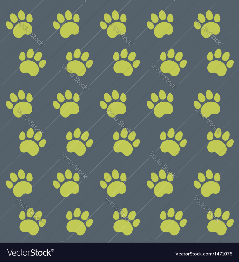 Traces of cat textile pattern vector | Price: 1 Credit (USD $1)