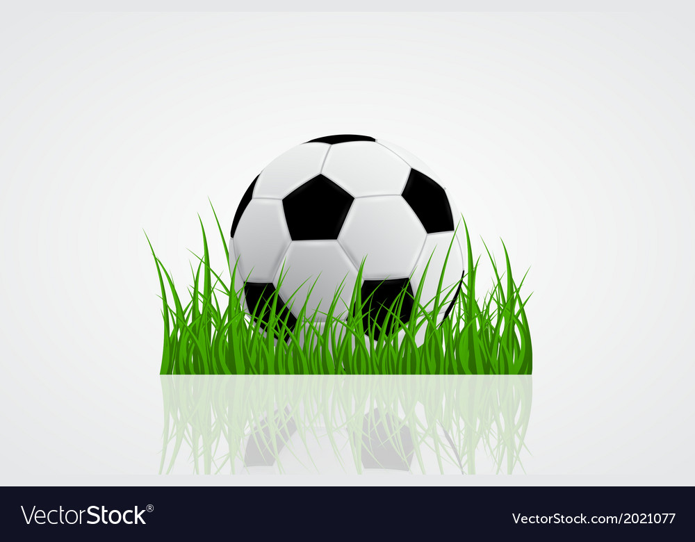 Ball on grass 2 vector | Price: 1 Credit (USD $1)