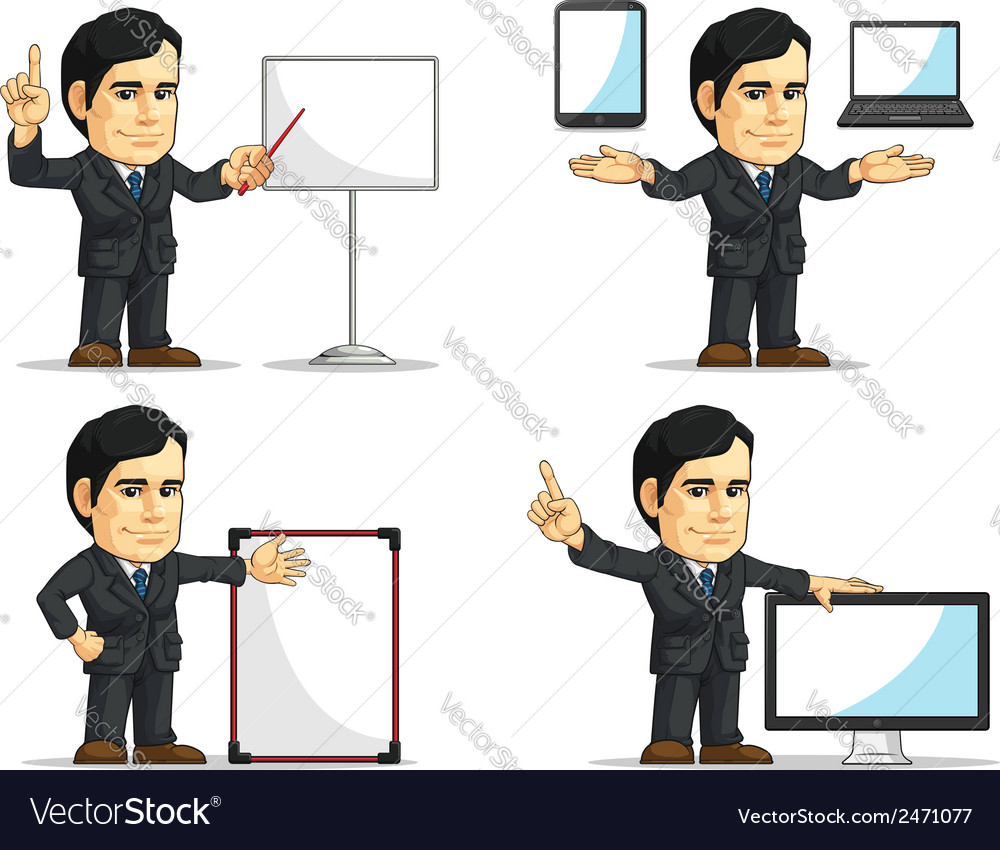 Businessman or company executive customizable 12 vector | Price: 1 Credit (USD $1)