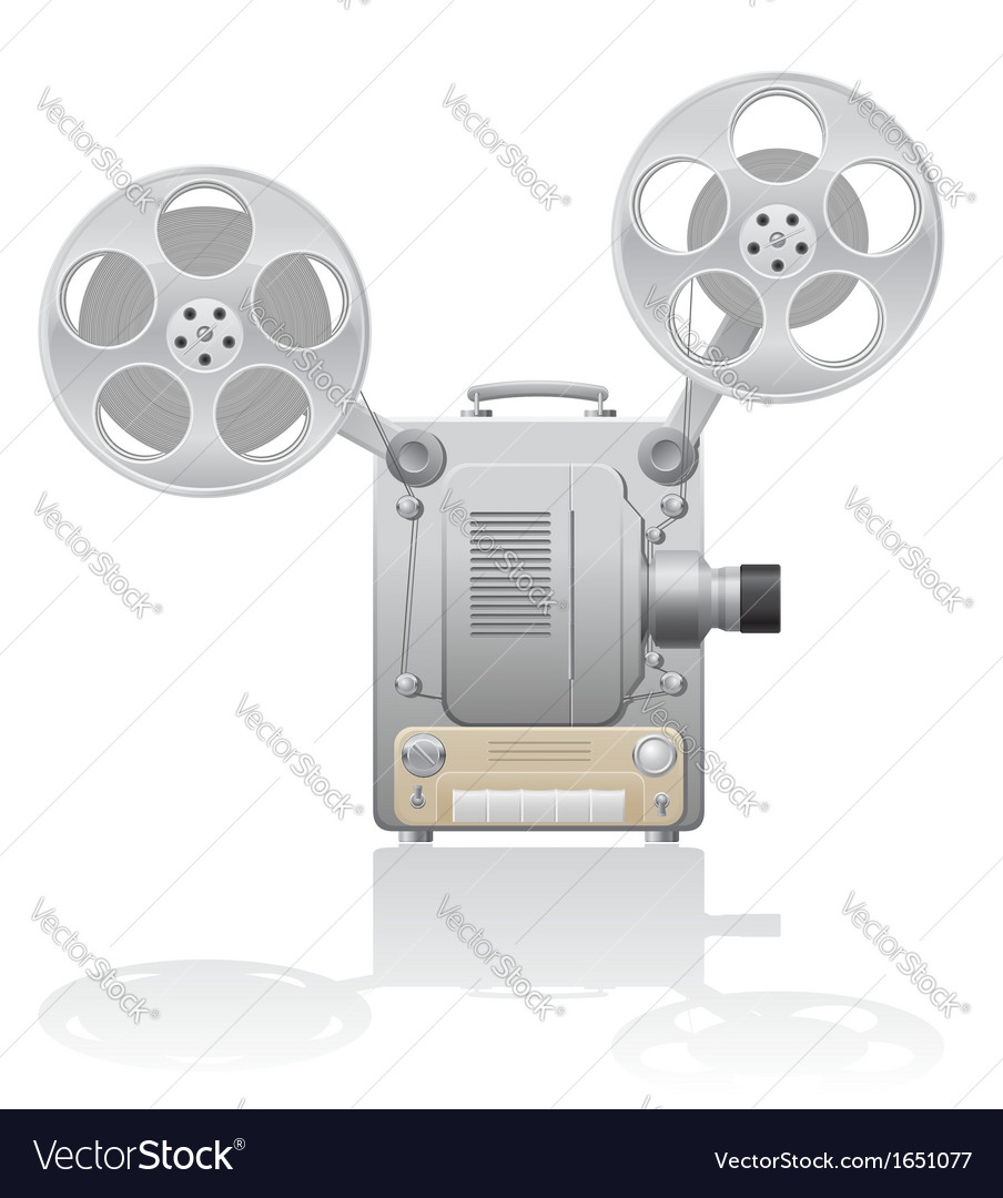 Cinema projector 01 vector | Price: 1 Credit (USD $1)