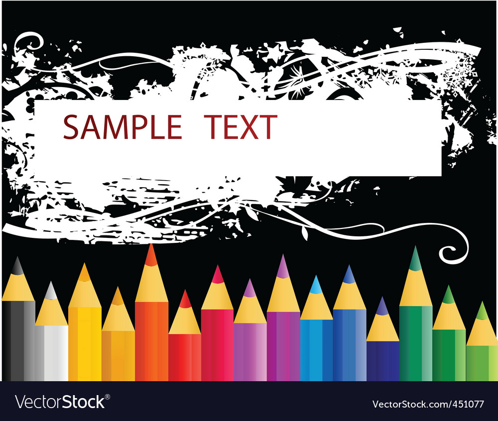 Colouring pencils vector | Price: 1 Credit (USD $1)