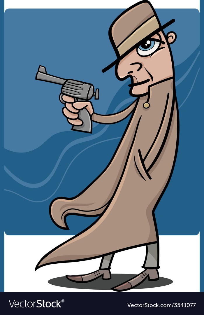 Detective or gangster cartoon vector | Price: 1 Credit (USD $1)