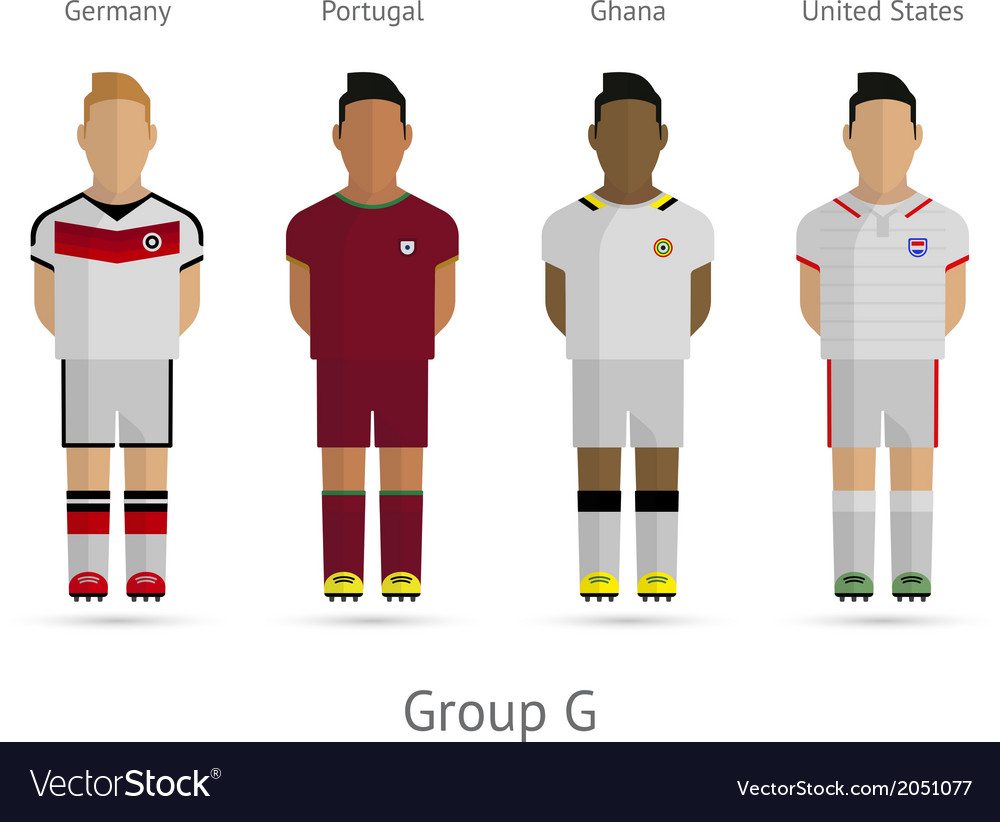 Football teams group g - germany portugal ghana vector | Price: 1 Credit (USD $1)