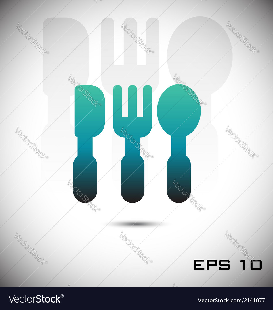 Fork knife and spoon icon vector | Price: 1 Credit (USD $1)