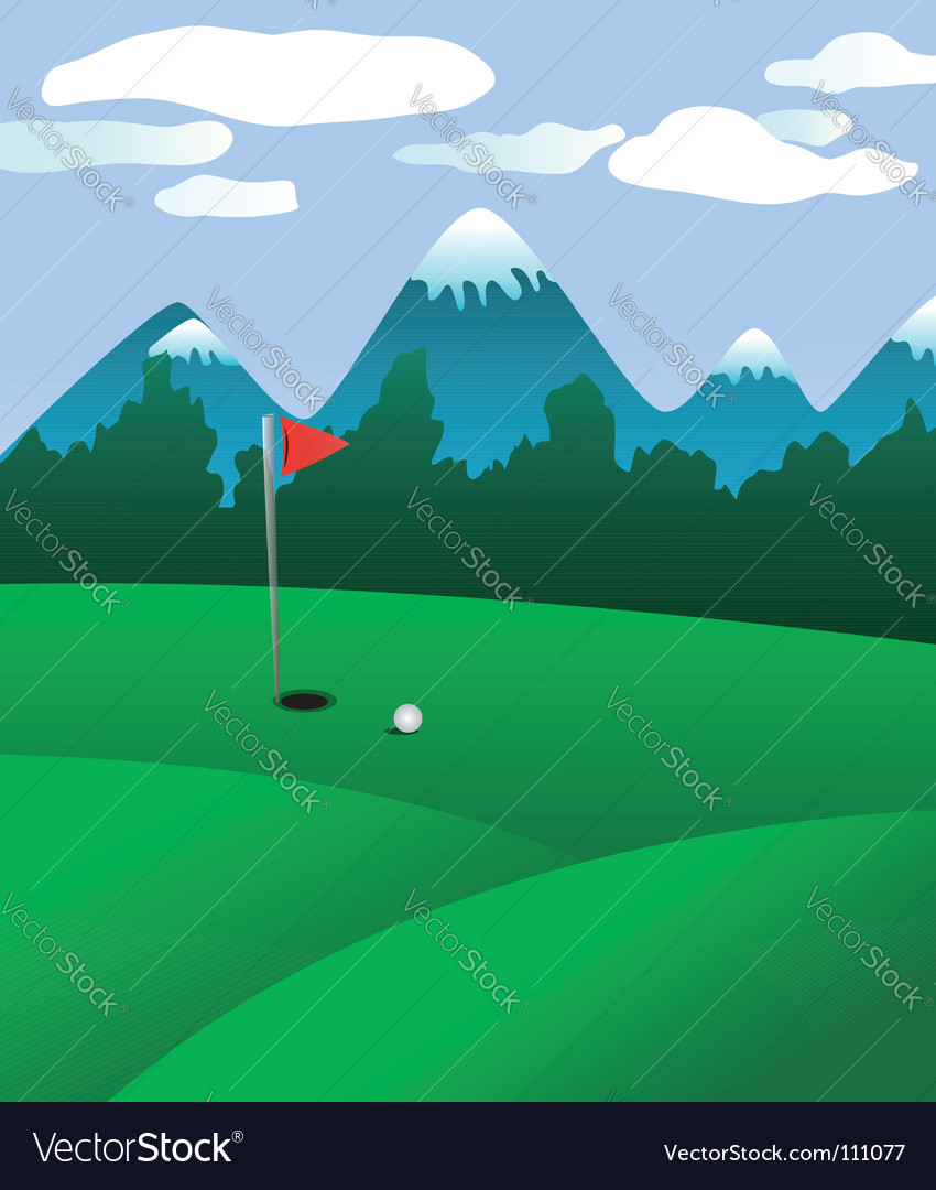 Golf field vector | Price: 1 Credit (USD $1)
