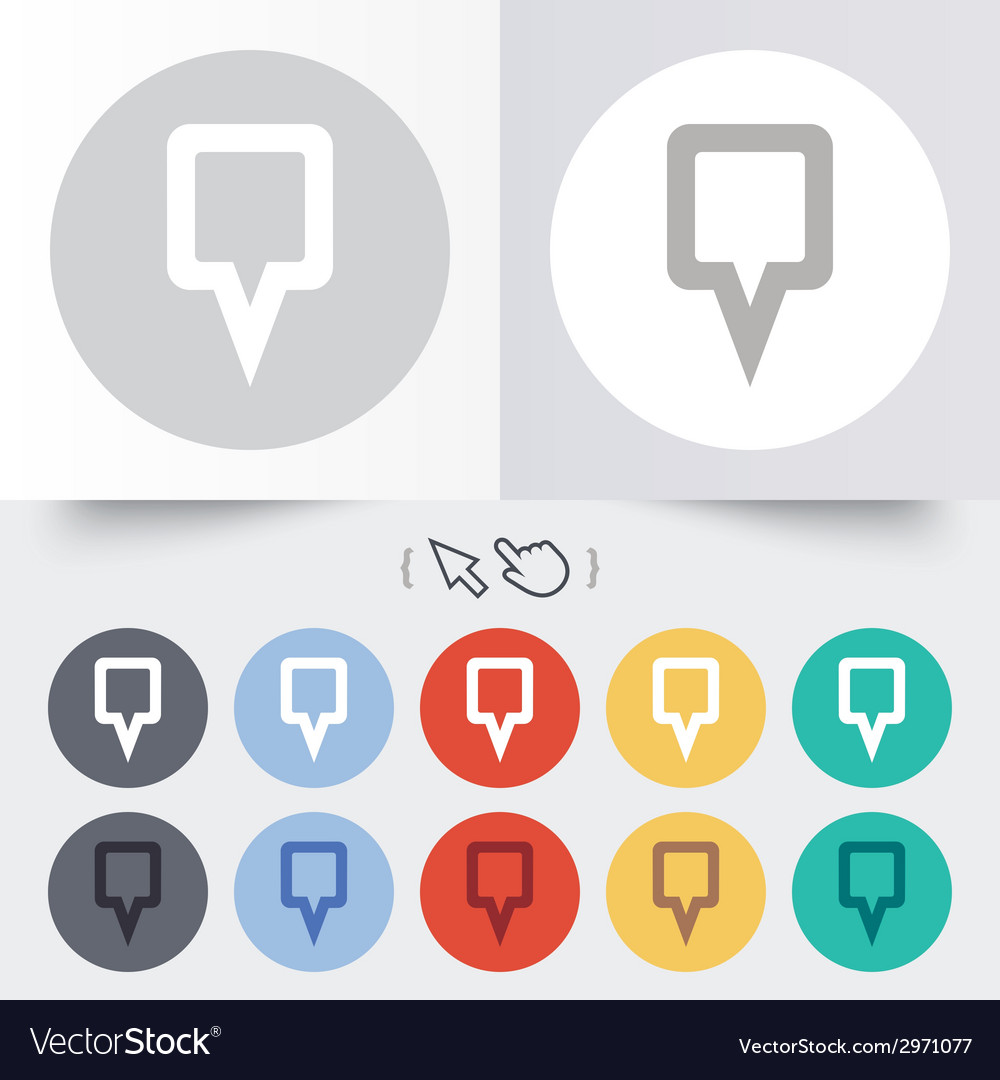 Map pointer sign icon marker symbol vector | Price: 1 Credit (USD $1)