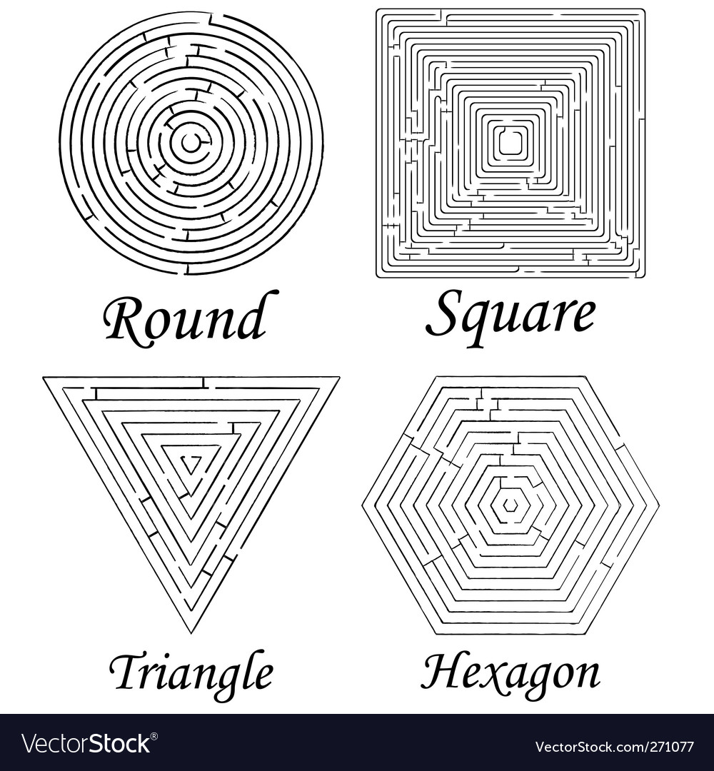 Mazes shapes vector | Price: 1 Credit (USD $1)