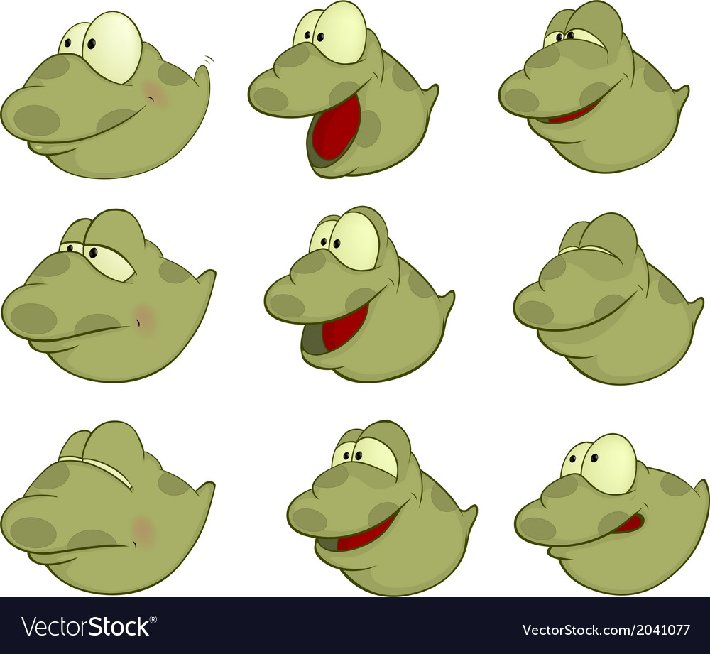 Set of tadpoles cartoons vector | Price: 1 Credit (USD $1)