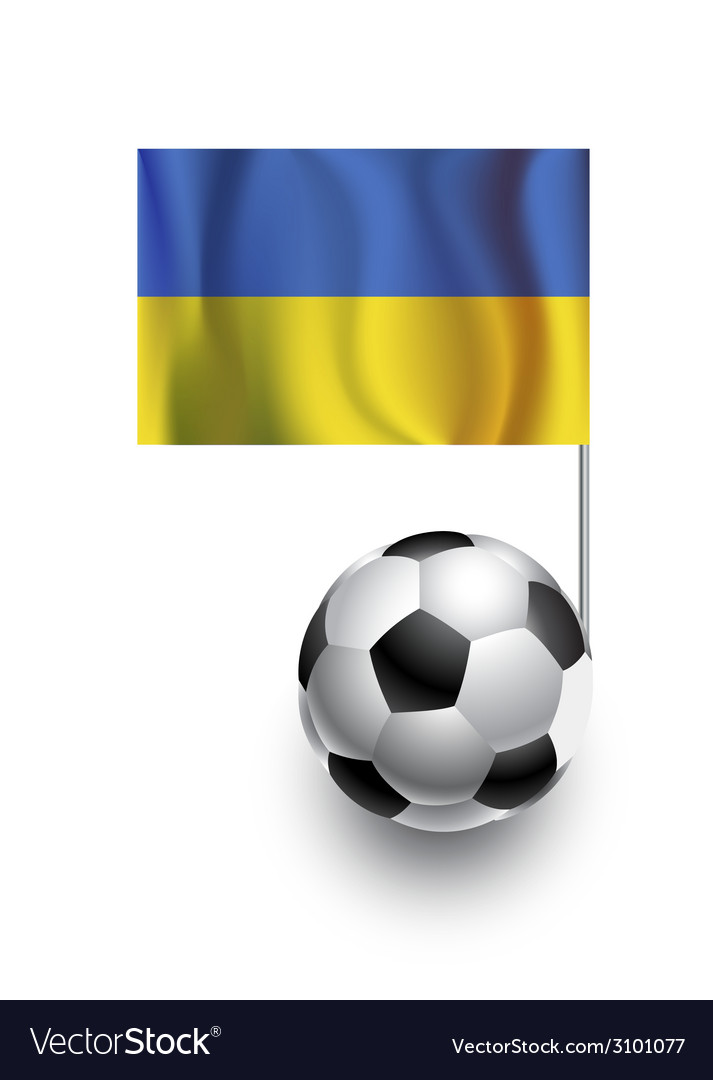 Soccer balls or footballs with flag of ukraina vector | Price: 1 Credit (USD $1)