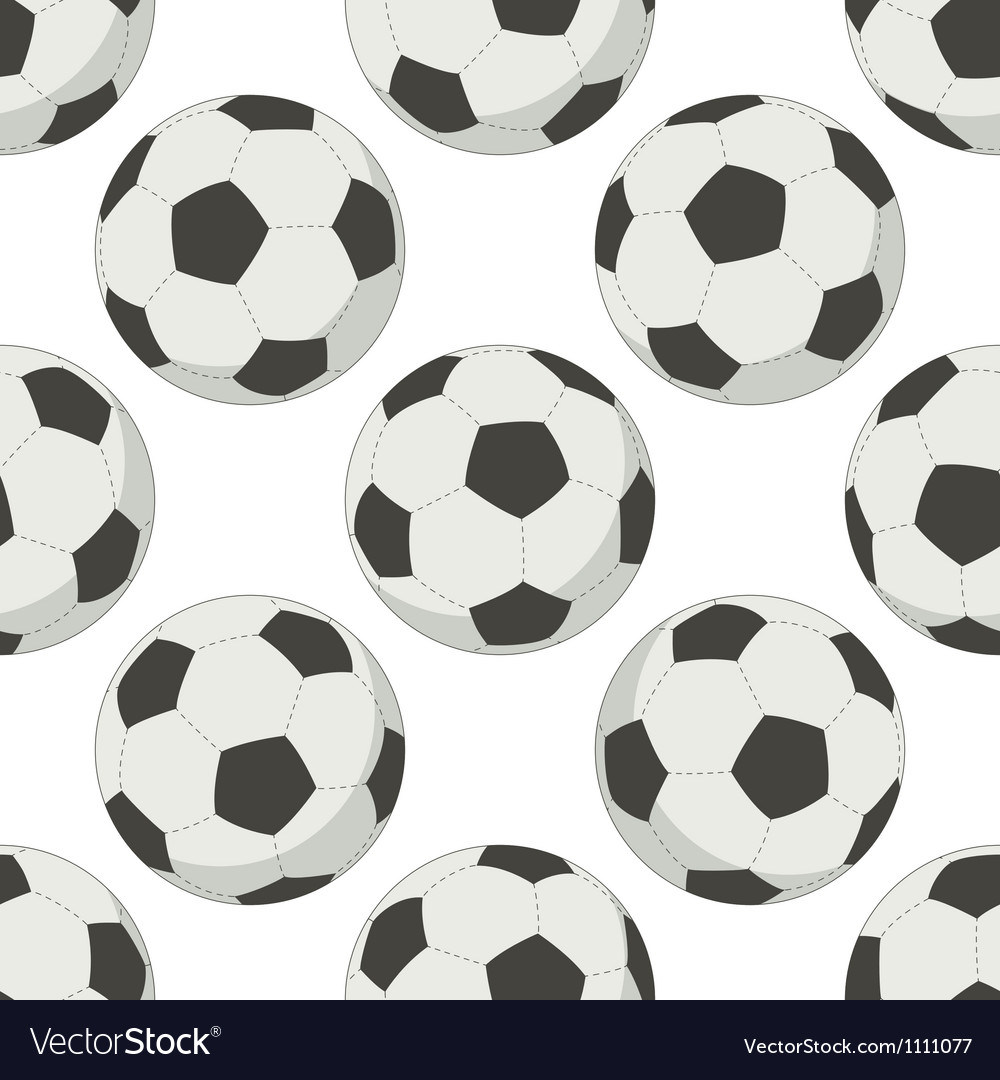 Soccer balls seamless background vector | Price: 1 Credit (USD $1)