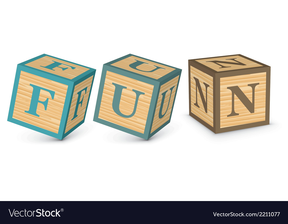 Word fun written with alphabet blocks vector | Price: 1 Credit (USD $1)