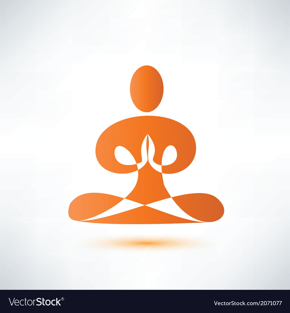 Yoga meditation symbol vector | Price: 1 Credit (USD $1)