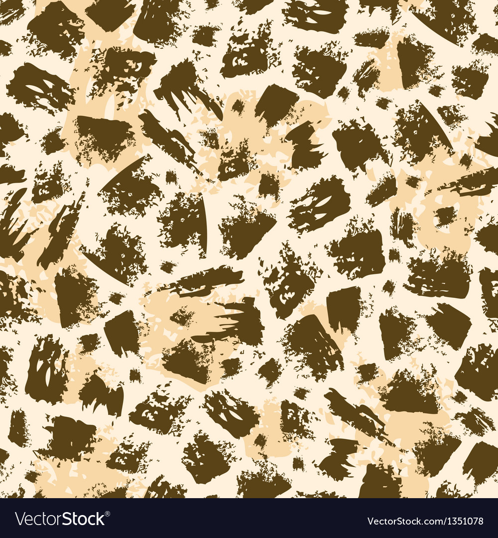 Animal brush stroke seamless pattern background vector | Price: 1 Credit (USD $1)