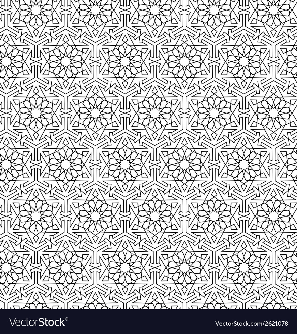 Arabian seamless net pattern vector | Price: 1 Credit (USD $1)