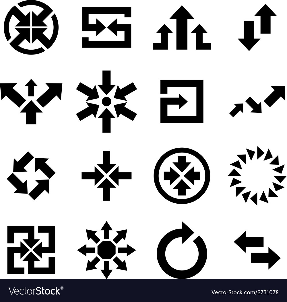 Arrow icon vector | Price: 1 Credit (USD $1)