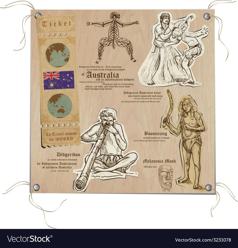 Australia - pictures of life aboriginals vector | Price: 1 Credit (USD $1)