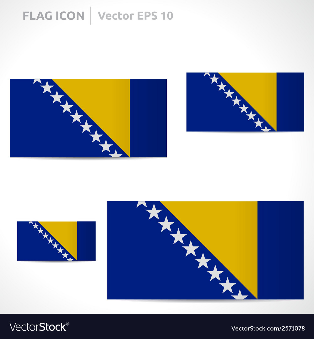 Bosnia and herzegovina flag template vector | Price: 1 Credit (USD $1)
