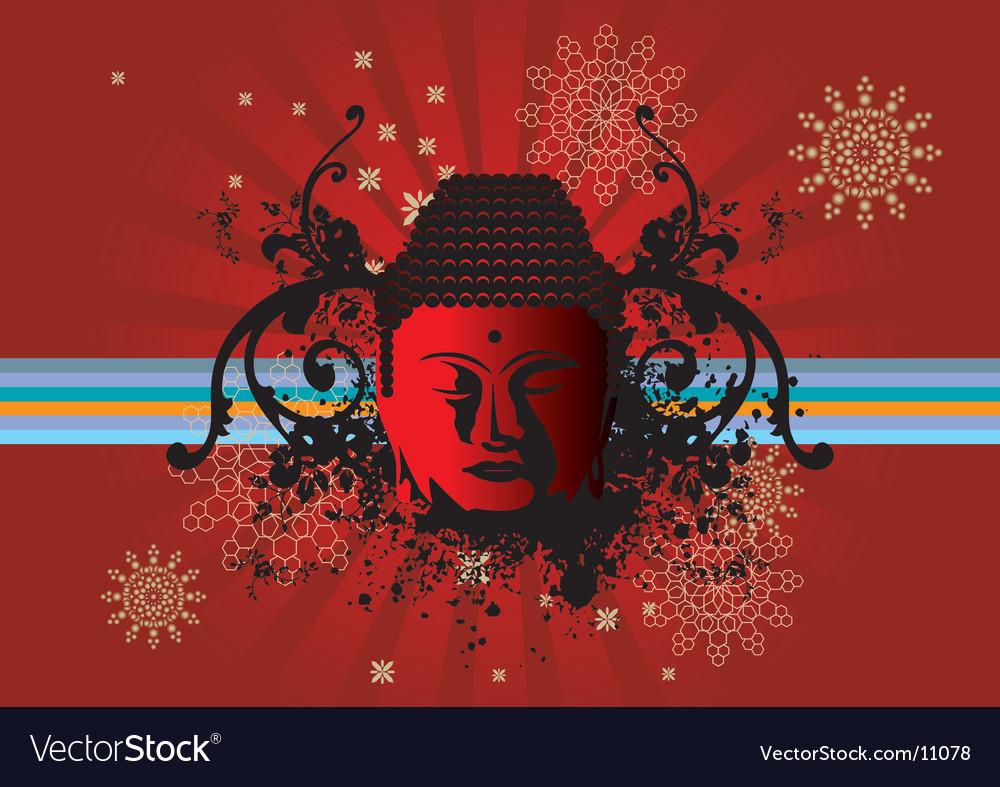 Buddha back vector | Price: 1 Credit (USD $1)