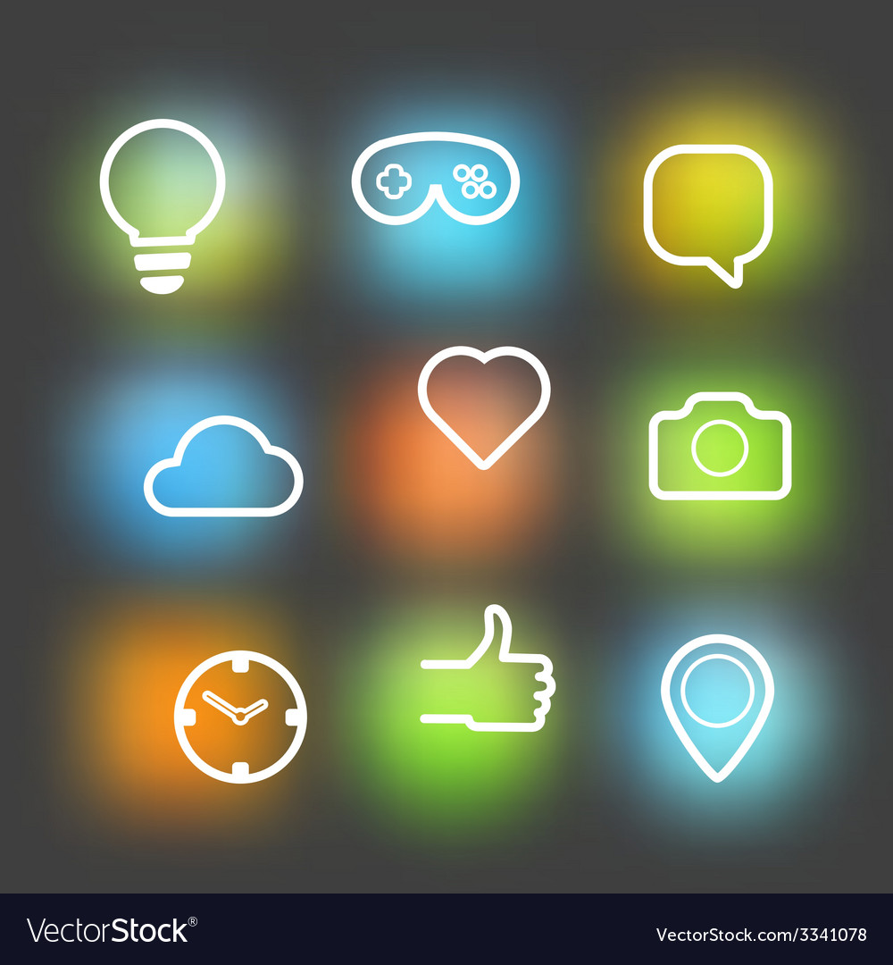 Different icons set design elements vector | Price: 1 Credit (USD $1)