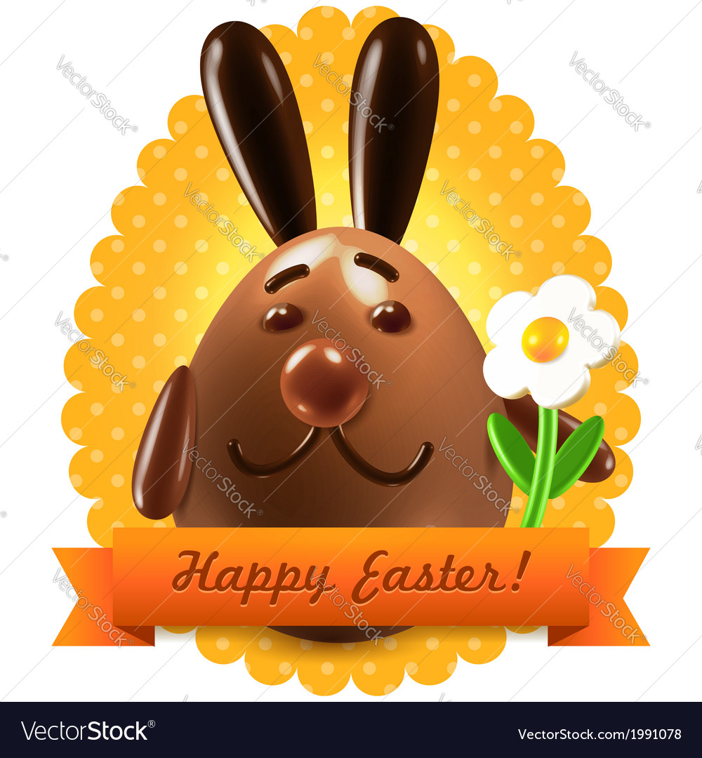 Easter postcard greetings vector | Price: 1 Credit (USD $1)