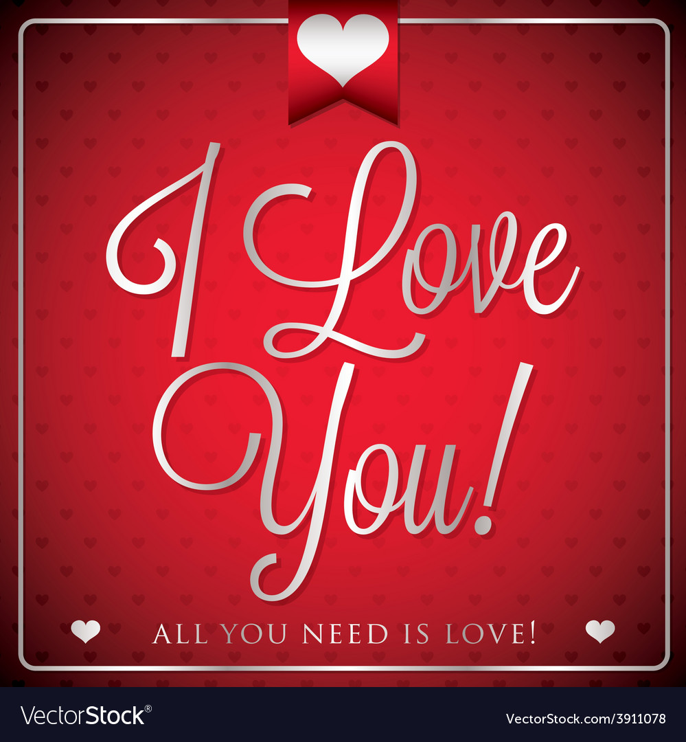 Elegant typographic valentines day card in format vector | Price: 1 Credit (USD $1)