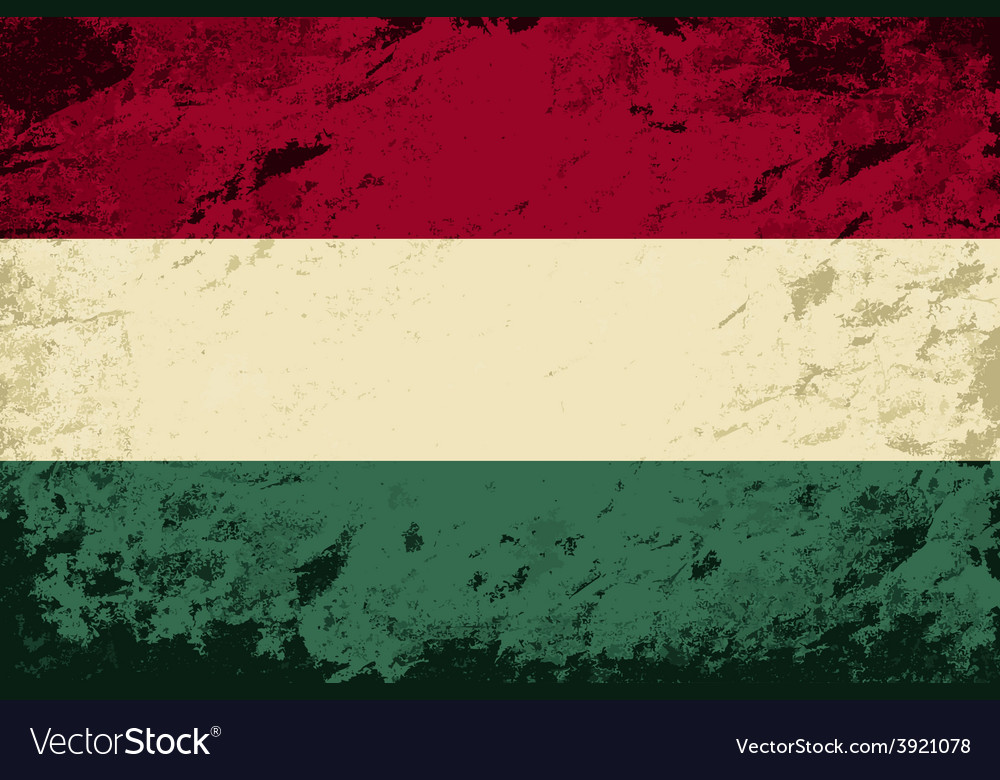 Hungarian flag grunge background vector | Price: 1 Credit (USD $1)