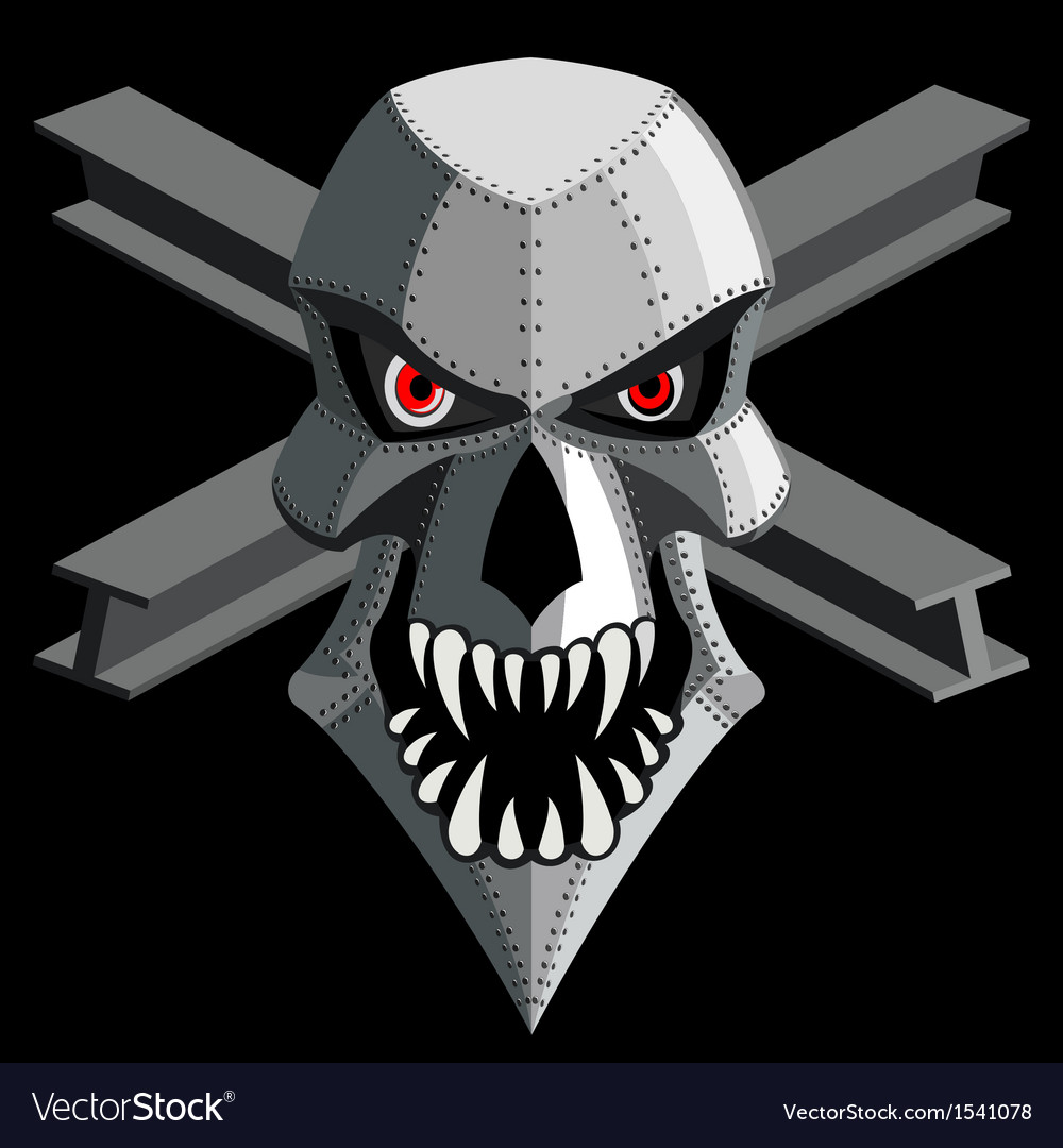 Iron skull vector | Price: 1 Credit (USD $1)