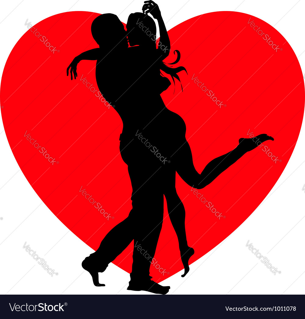 Kissing couple vector | Price:  Credit (USD $)