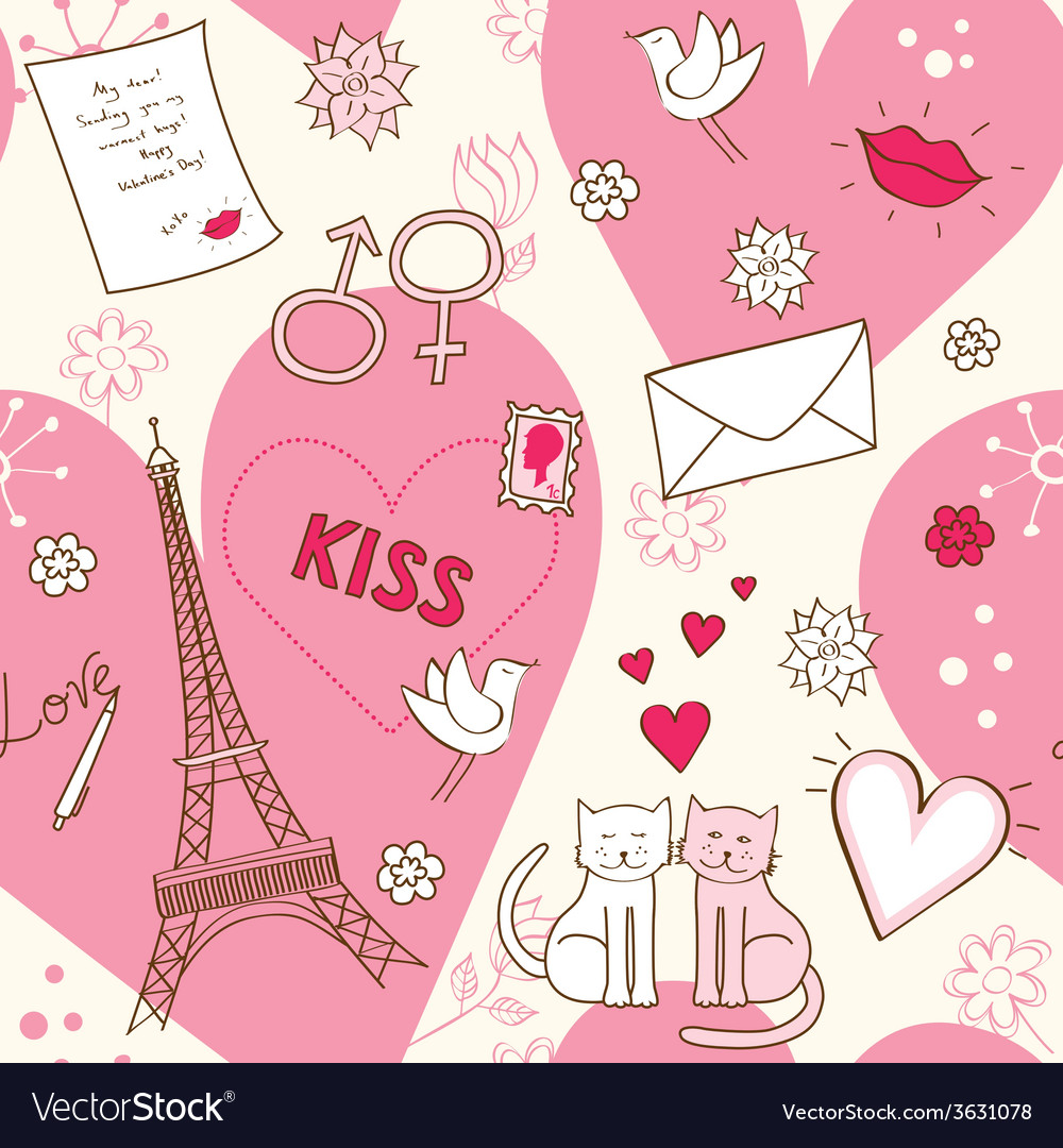 Pattern for valentines day vector   Price: 1 Credit (USD $1)