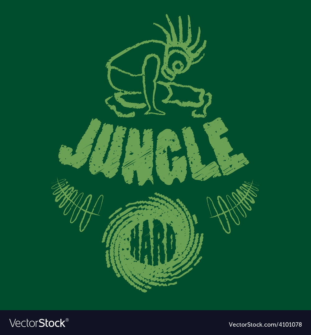 Ragga jungle t-shirt music vector | Price: 1 Credit (USD $1)