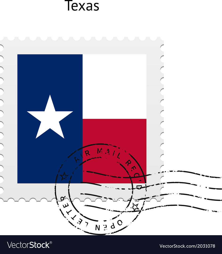 State of texas flag postage stamp vector | Price: 1 Credit (USD $1)