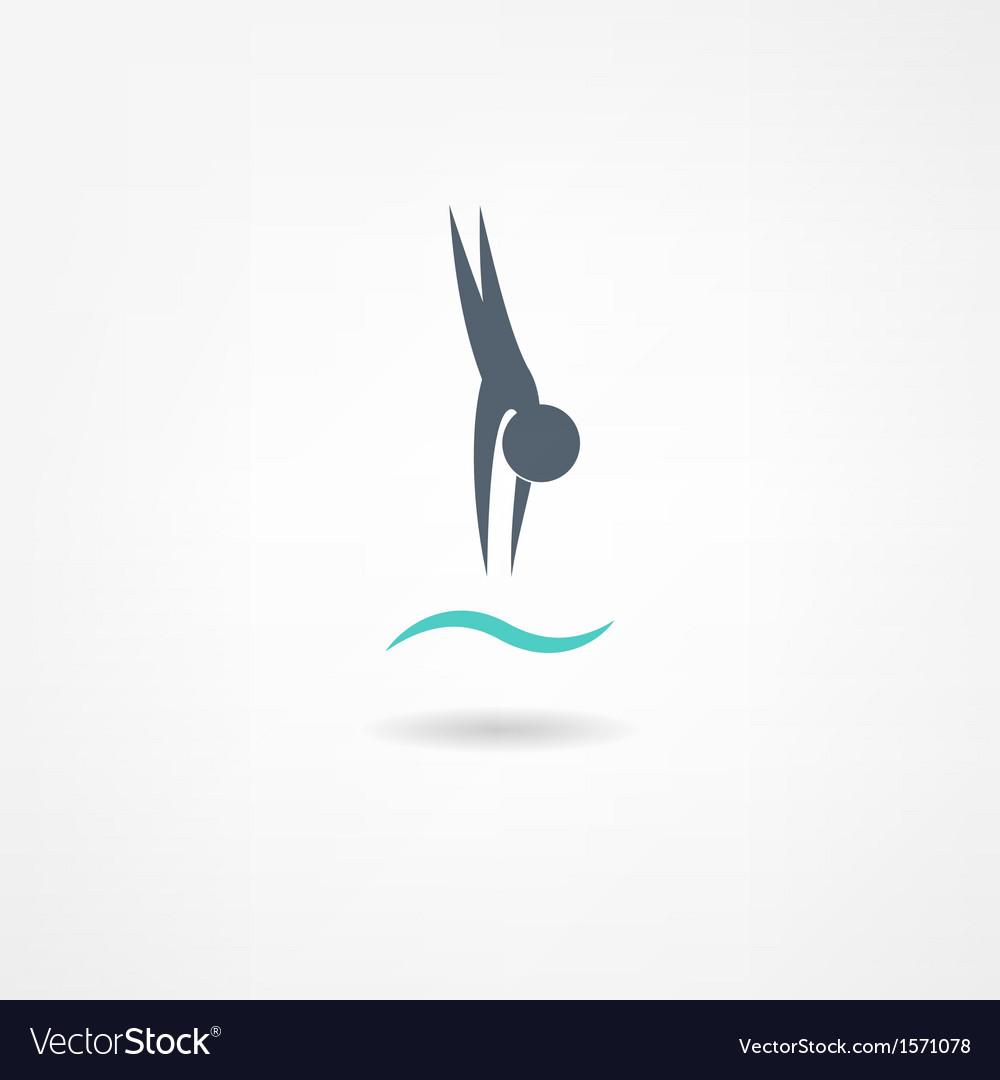 Swimming icon vector | Price: 1 Credit (USD $1)