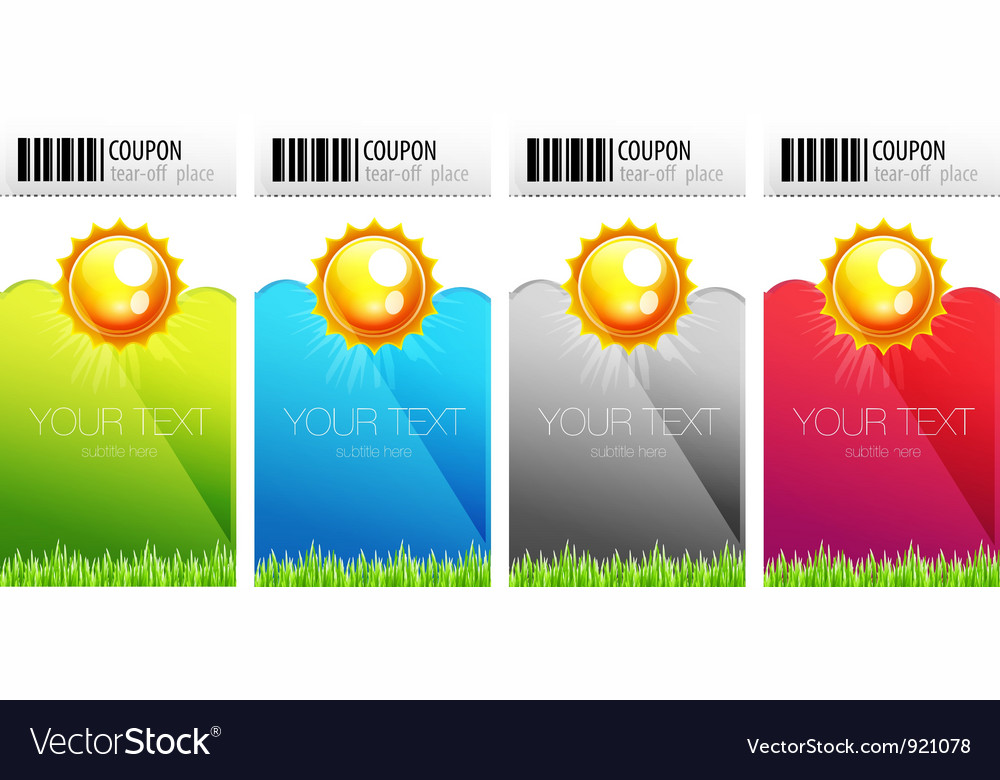 Tear-off nature coupons vector | Price: 1 Credit (USD $1)