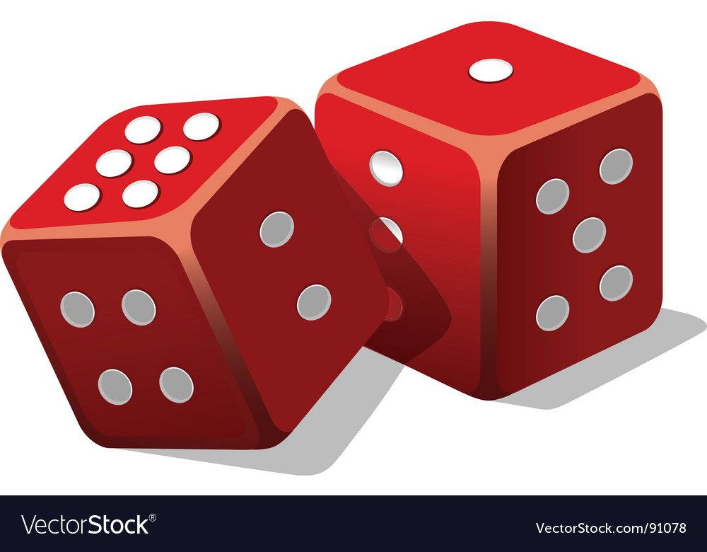 Two dice vector | Price: 1 Credit (USD $1)
