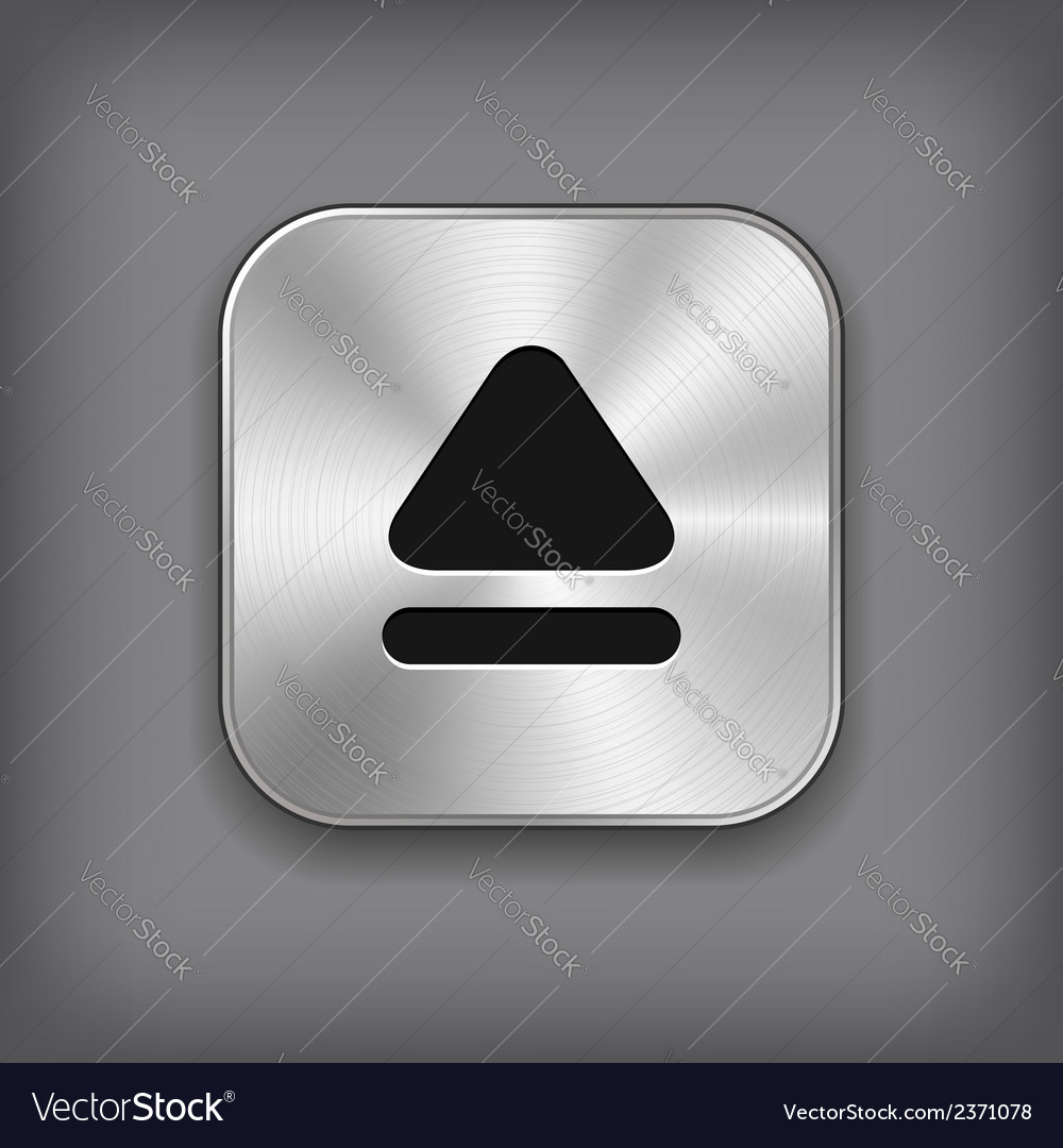 Up arrow icon - metal app button vector | Price: 1 Credit (USD $1)