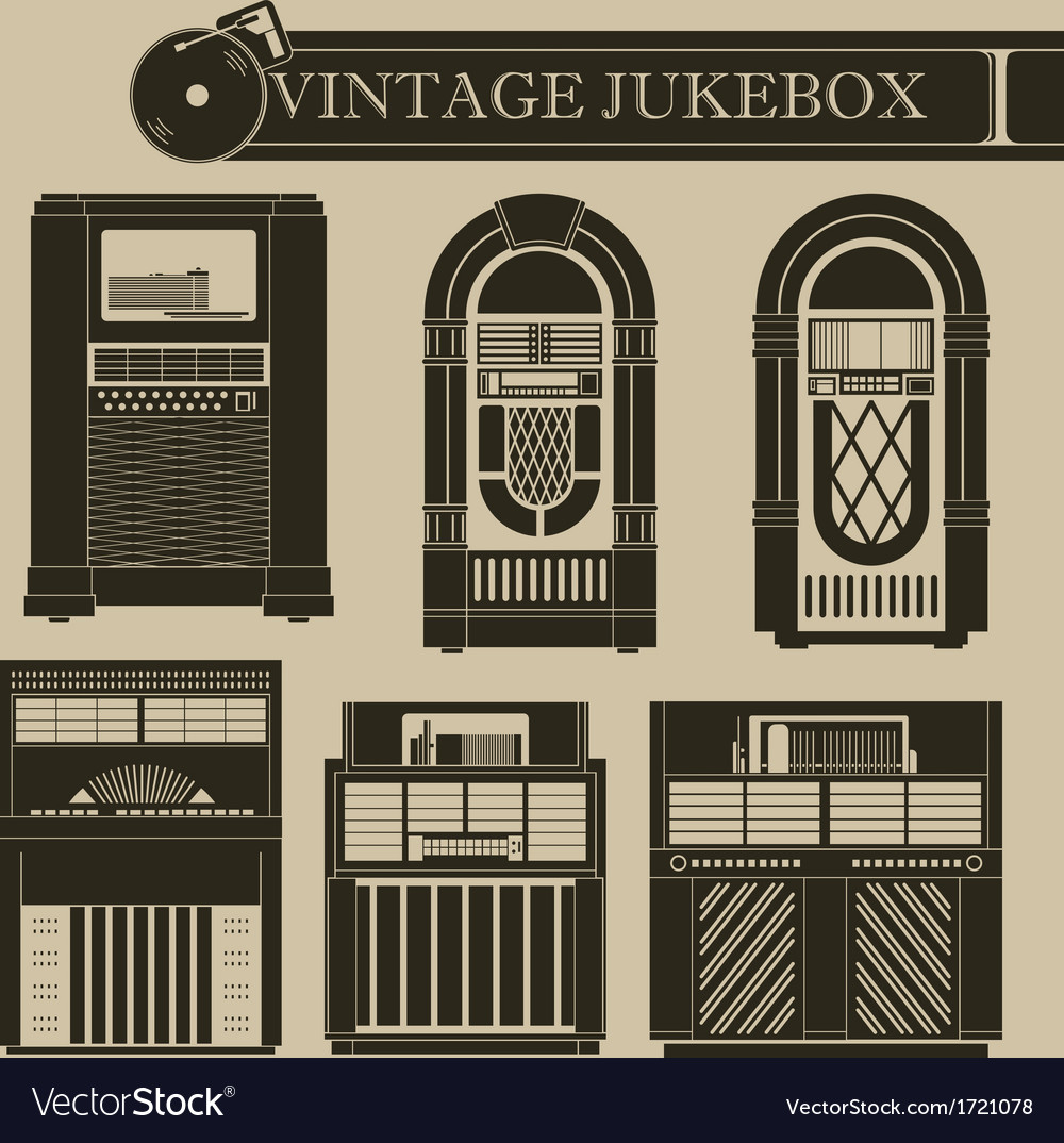 Vintage jukebox i vector | Price: 1 Credit (USD $1)