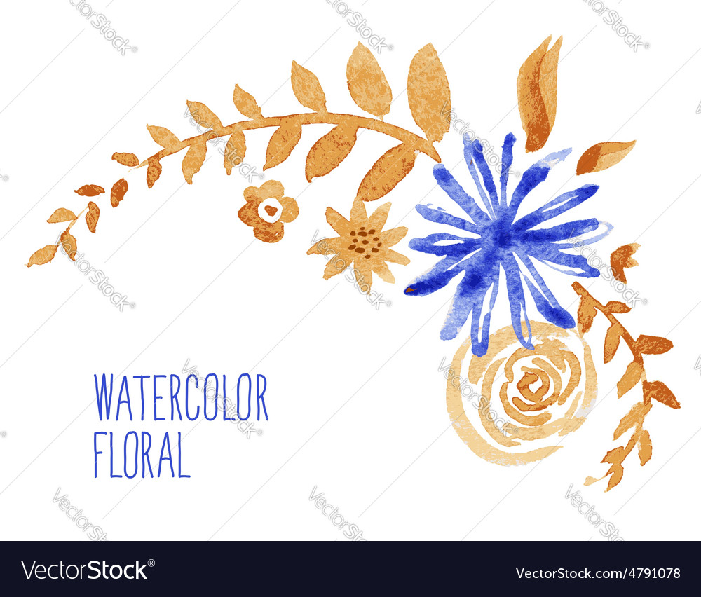 Watercolor floral bouquet vector | Price: 1 Credit (USD $1)