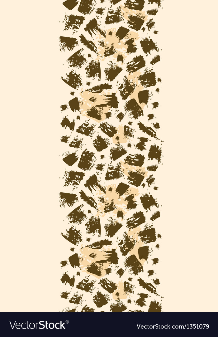 Animal brush stroke vertical seamless pattern vector | Price: 1 Credit (USD $1)