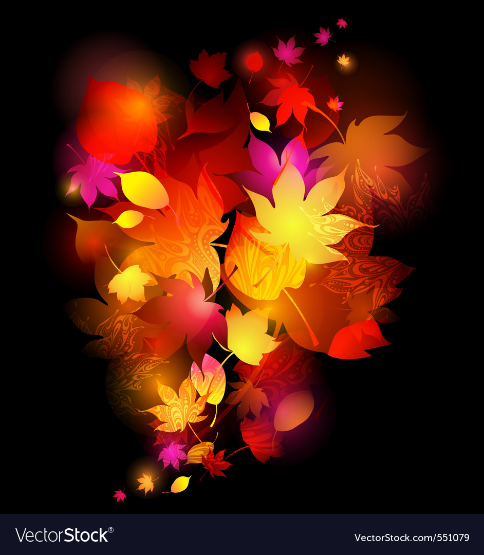 Awesome autumn background vector | Price: 1 Credit (USD $1)
